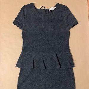 Knit Peplum Dress from the LOFT